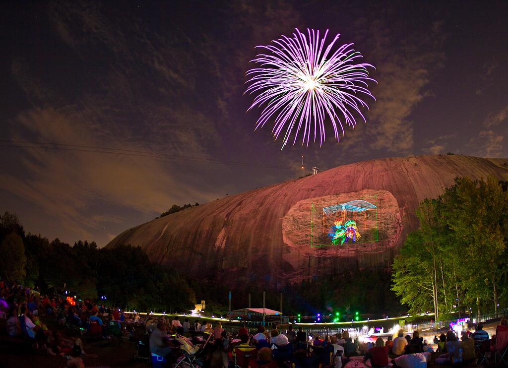 fireworks celebration at stone mountain atlanta fireworks near you